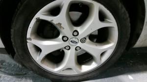 wheels before repairs