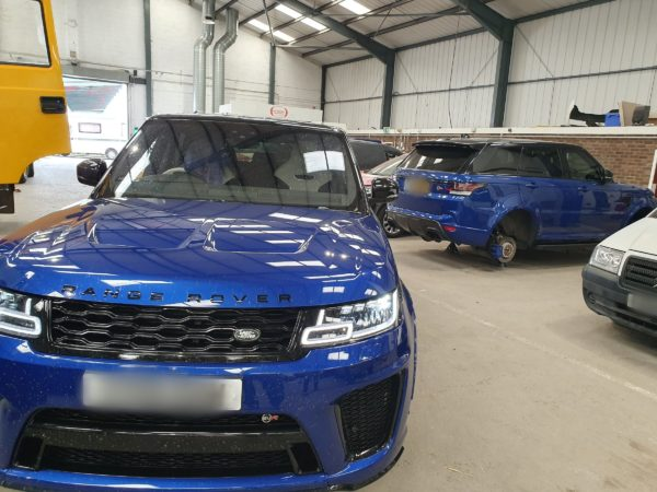 2 Range Rover SVR's in for repair